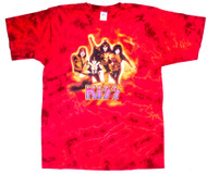 KISS T-Shirt - KISS Reunion Red Tie-Dye, size L