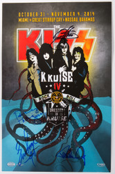 KISS Autographed Poster - Signed by Paul, Gene, Eric and Tommy, KISS Kruise IV, (a).