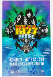 KISS Autographed Poster - Signed by Paul, Gene, Eric and Tommy, KISS Kruise III