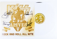 KISS Kruise V 2015 - KISS Vinyl LP Record with autographs, (a)