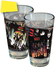 KISS Pint Glass - Discography Collage