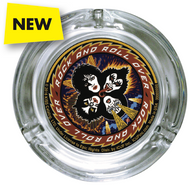 KISS Ash Tray - Rock and Roll Over, round