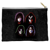 KISS Travel / Accessory Pouch - KISS Solo Faces