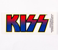 KISS Sticker - KISS Logo, red/blue decal