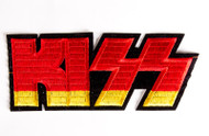 KISS Patch - KISS Logo, red/yellow, 4.5 inch