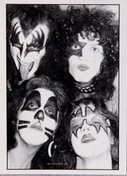 KISS Fabric Poster - B&W Faces