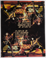 KISS Tent Card -  from 1977 Fan Club Packet
