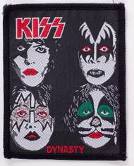 KISS Patch - KISS Dynasty, Black Patch, ('80s)