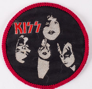 KISS Patch - KISS Group Red/Black ('80s)