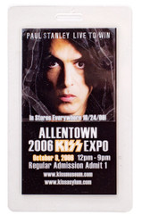 KISS Laminate Pass - Allentown KISS Expo 2006