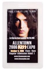 KISS Laminate Pass - Allentown KISS Expo 2006