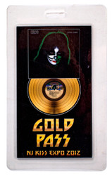 KISS Laminate Pass - New Jersey KISS Expo 2012, GOLD