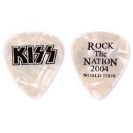 Kiss Guitar Pick - Rock the Nation, Pearl.
