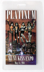 KISS Laminate Pass - New Jersey KISS Expo 2011, PLATINUM