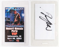 Bruce Kulick Laminate Pass - Record Release Party, signed by Bruce