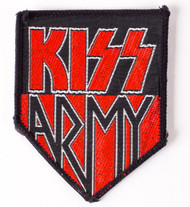 KISS Patch - KISS Army, red, black and silver, '80s