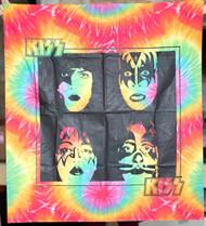 KISS Banner - KISS Logo Tie-dye