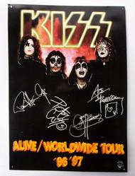 KISS Metal Sign - First Album
