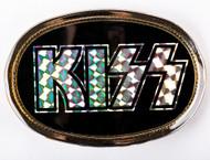 KISS Belt Buckle - Logo, Prism on Black, 1977