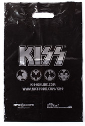 KISS Shopping Bag - KISS Online Icons, silver on black