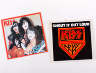 KISS Stickers - KISS Unmasked Stickers, set of 2