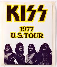 KISS Sticker - KISS 1977 U.S. Tour