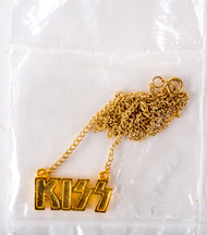 KISS Jewelry - KISS Logo Necklace 1978, gold, sealed