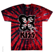 KISS T-Shirt - KISS Rock and Roll Over, Cherry Tie-Dye