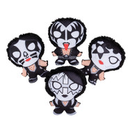 "KISS Figures - Plush Carnival, small 8"", set of 4"