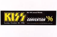 KISS Sticker - Bumper Sicker, KISS Convention '96
