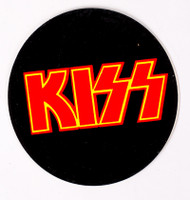 KISS Sticker - Round Red Logo