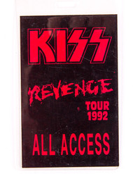 KISS Backstage Pass - Revenge 1992 All Access