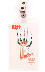 KISS Backstage Pass - Animalize Fingernails 1985 laminate
