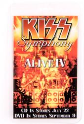 KISS Backstage Pass - KISS Symphony Promo laminate