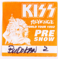 KISS Backstage Pass - KISS Japan Budokan Pre-show Orange, cloth