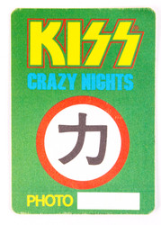 KISS Backstage Pass - KISS Crazy Nights 1988 Photo, cloth