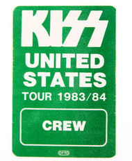 KISS Backstage Pass - United States Crew, green, (reproduction)