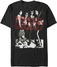 KISS T-Shirt - Hotter Than Hell Group, red logo