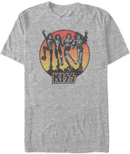 KISS T-Shirt - Heather Grey Destroyer Sun