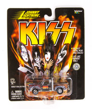 KISS Car - Johnny Lightning Truck, light blue flames