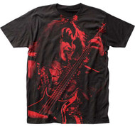 KISS T-Shirt - Gene Simmons Red Print