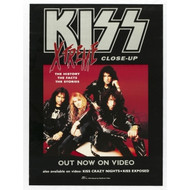 KISS Poster - Xtreme Close-up video promo