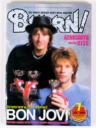 KISS Magazine - Burrn!, Japan 2001, KISS Calendar poster