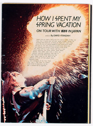 KISS Magazine article - How I spent my Spring Vacation, (Playboy excerpt, 1977)