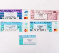 KISS Tickets - Set of FIVE U.S.