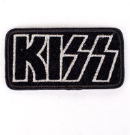 KISS Patch - KISS Logo, silver outline