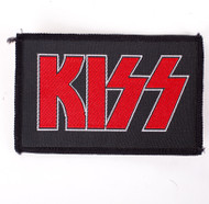 KISS Patch - KISS Logo, silver/red