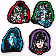 KISS Patches - Solo Faces, set of 4