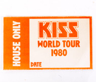 KISS Sticker - KISS World Tour 1980