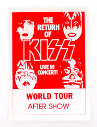 KISS Sticker - KISS World Tour After Show Dynasty, red